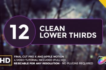 Photo of Clean Lower Thirds For Final Cut Pro X – 20148190 Videohive Download
