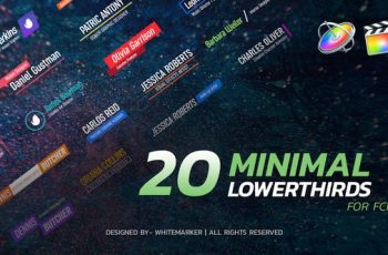 Photo of FCPX Minimal Lower Thirds Pack – Download Videohive 23139474