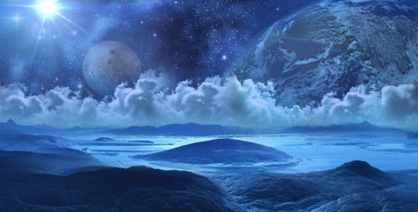 Photo of Space Landscape – Frozen Planet – Videohive 8316006