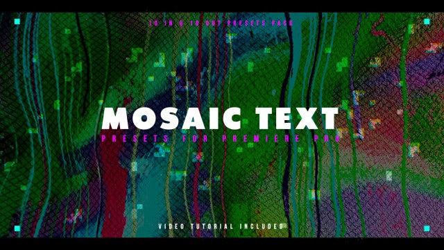 Photo of Mosaic Text Presets – MotionArray 819965