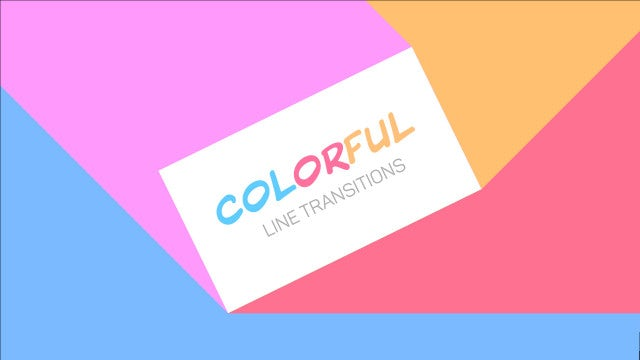 Photo of Colorful Line Transitions – MotionArray 820619
