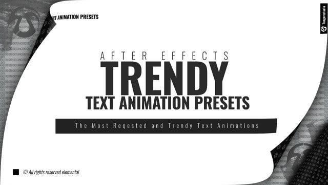Photo of Trendy Text Animation Presets – MotionArray 830501
