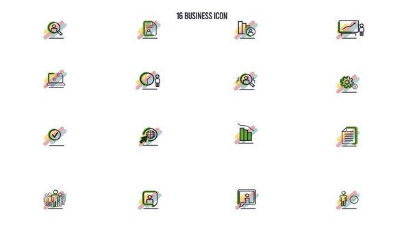 Photo of 16 Business Icon – Videohive 28842164