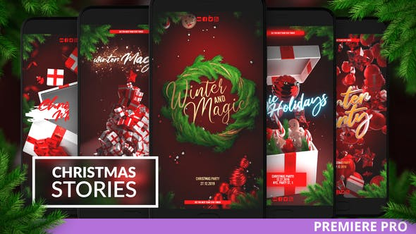 Photo of Christmas Instagram Stories for Premiere – Videohive 29477463