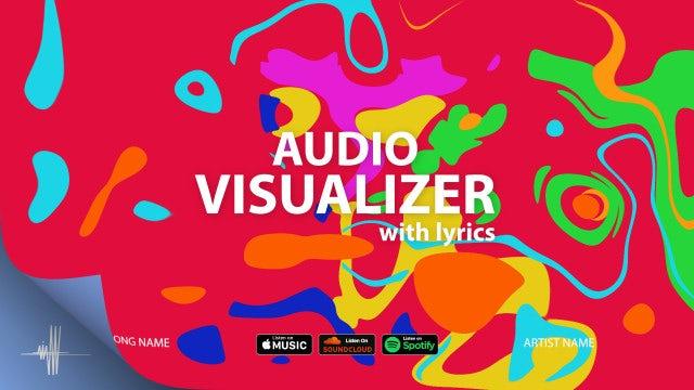 Photo of Colorful Audio Visualizer With Lyrics – MotionArray 861850