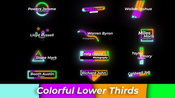 Photo of Colourful Lower Thirds – Videohive 28869388