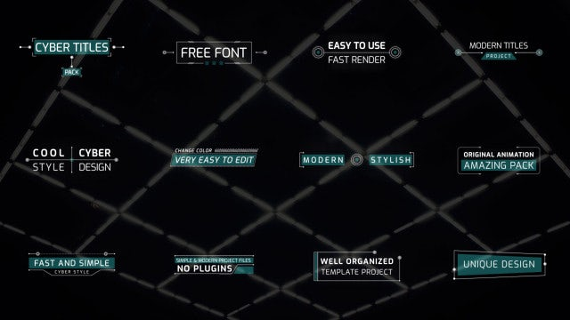Photo of Cyber Titles Pack – MotionArray 860930