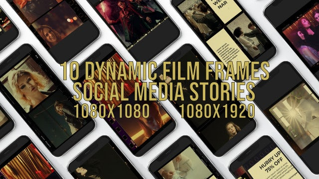 Photo of Dynamic Film Frames Social Media Stories – MotionArray 861642