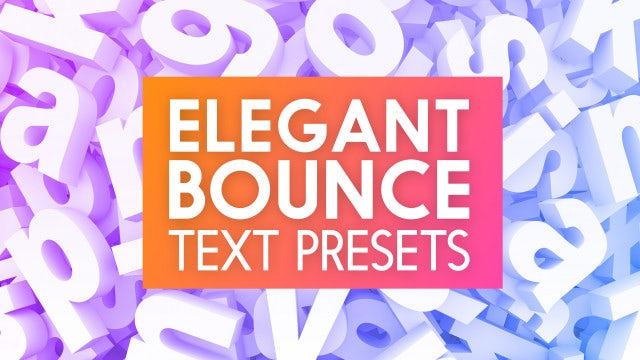 Photo of Elegant Bounce Text Presets – MotionArray 862390