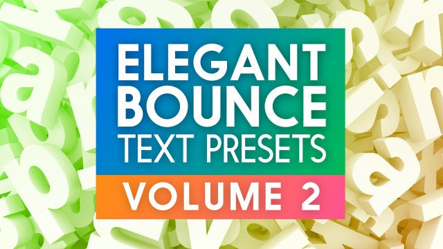 Photo of Elegant Bounce Text Presets Vol2 – MotionArray 864241