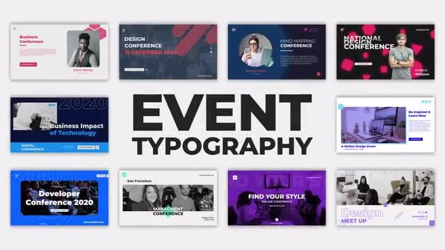 Photo of Event Typography – MotionArray 860777