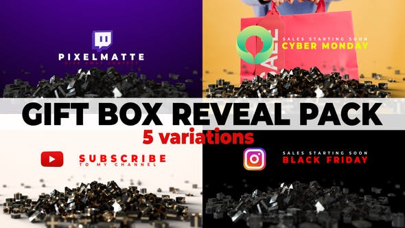 Photo of Gift Box Reveal Packs | Social Media | Black Friday & Cyber Monday – Videohive 29504147
