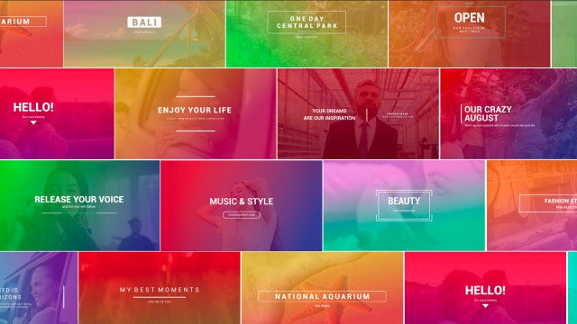 Photo of Gradient Titles – MotionArray 858760
