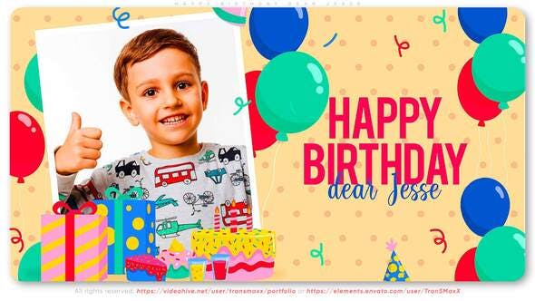 Photo of Happy Birthday Dear Jesse – Videohive 29478976