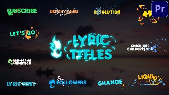 Photo of Lyric Titles | Premiere Pro MOGRT – Videohive 29492635