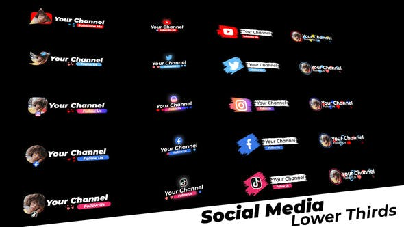 Photo of Social Media Lower Thirds – Videohive 28766205