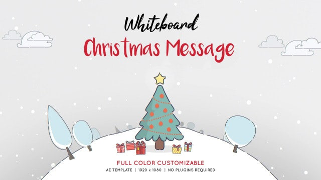 Photo of Whiteboard Christmas Message – MotionArray 856876