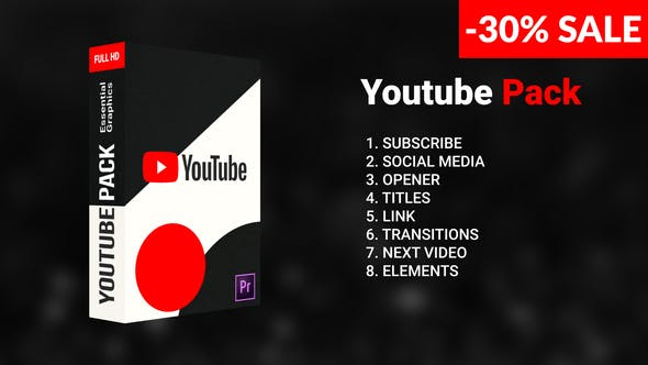 Photo of Youtube Pack – Videohive 23736566
