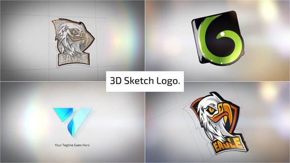 Photo of Clean 3D Sketch Logo Reveal – Videohive 29810907