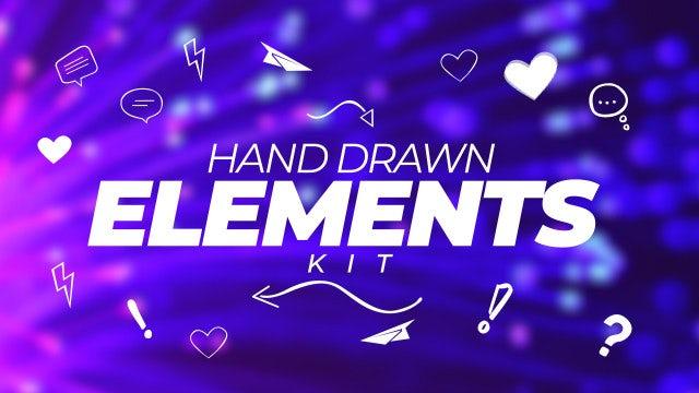 Photo of Hand Drawn Elements Kit – MotionArray 910411