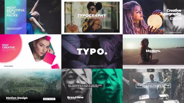 Photo of Typography Pack V1 – MotionArray 899370