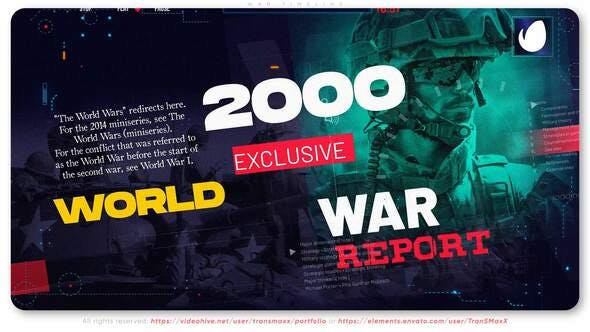 Photo of War Timeline | Report – Videohive 30240926