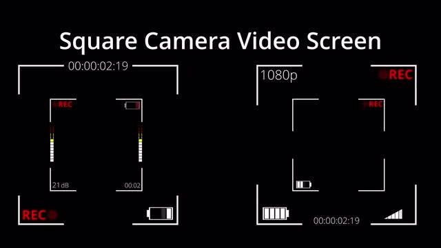 Photo of Square Video Camera Screen Pack – MotionArray 921959