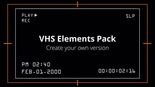 Photo of VHS Elements Pack – MotionArray 929618