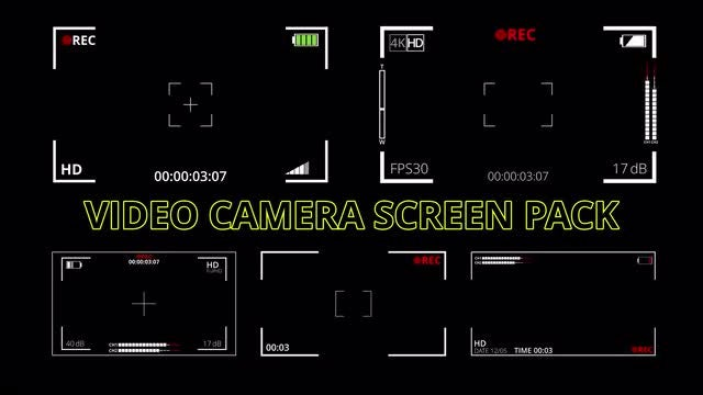 Photo of Video Camera Screen Pack – MotionArray 919767