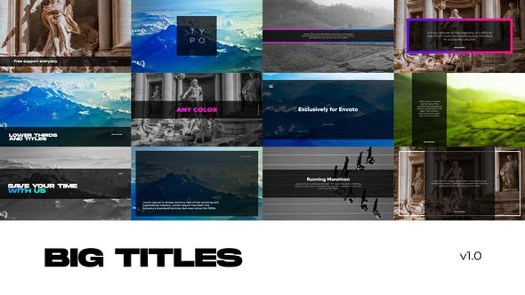 Photo of Big Titles for Premiere Pro – Videohive 30953155