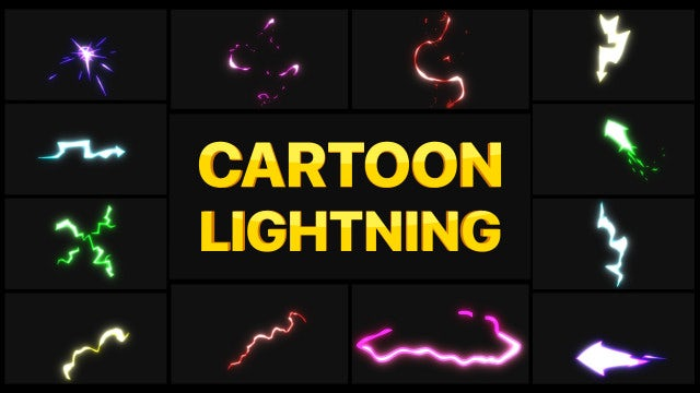 Photo of Cartoon Lightning Elements – MotionArray 926613