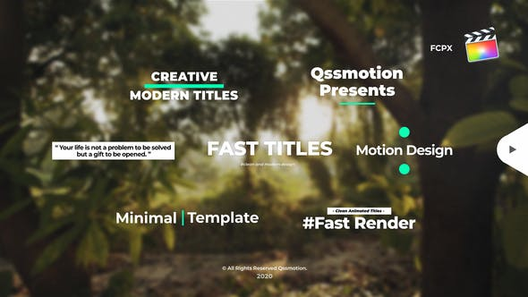 Photo of Creative and Clean Titles Package For FCPX – Videohive 30882314