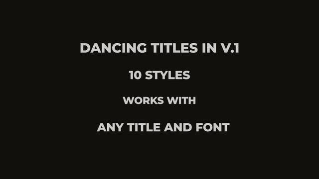 Photo of Dancing Titles In V.1 – MotionArray 943901