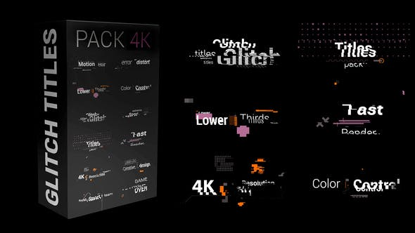 Photo of Glitch Titles Pack 4K – Videohive 30854308