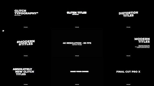 Photo of Glitch Titles – Videohive 30090629