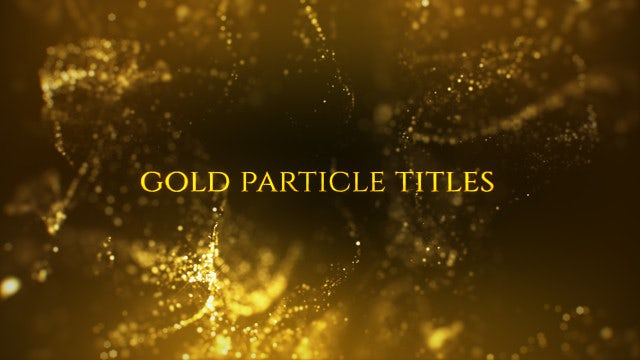 Photo of Gold Particle Titles – MotionArray 928098