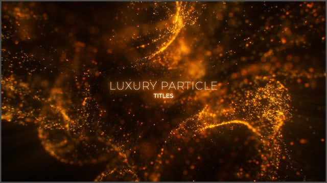Photo of Luxury Particle Titles – MotionArray 935876