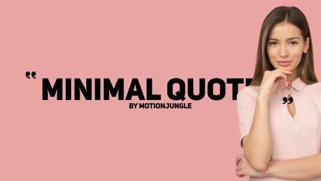 Photo of Minimal Quotes – MotionArray 936573