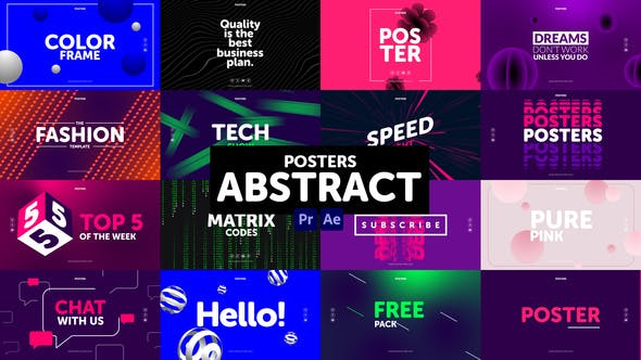 Photo of Posters Abstract – Videohive 31018222