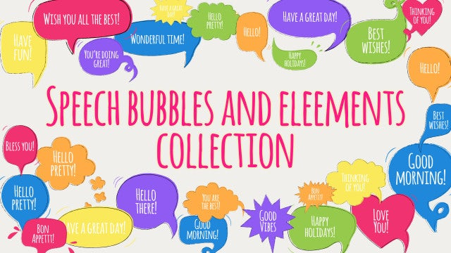 Photo of Speech Bubbles And Elements Pack – MotionArray 927635