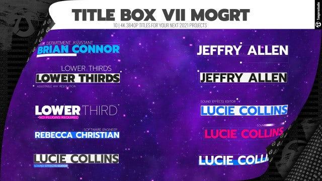 Photo of Title Box VII – MotionArray 917876