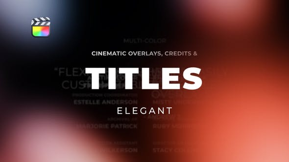Photo of Titles Elegant Cinematic 2 – Videohive 30871437