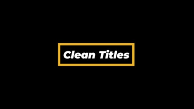 Photo of Clean Titles – MotionArray 954881