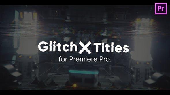 Photo of Glitch X Titles for Premiere Pro – Videohive 30635009