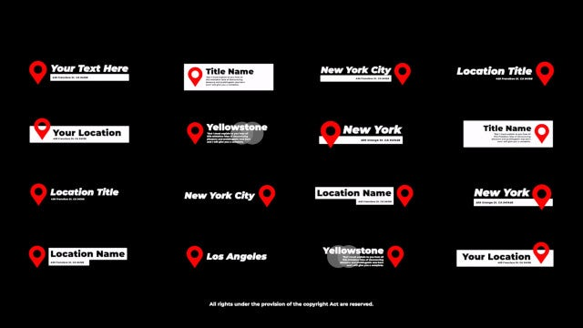 Photo of Location Titles – MotionArray 963449