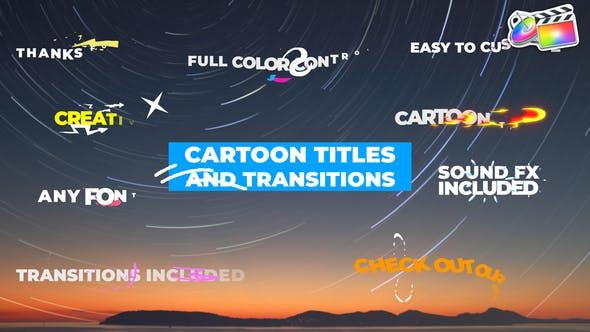 Photo of Cartoon Titles And Transitions | FCPX – Videohive 31910902