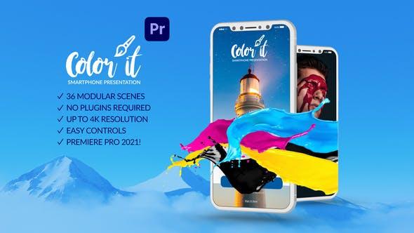 Photo of Color it Smartphone Presentation for Premiere Pro – Videohive 31779980