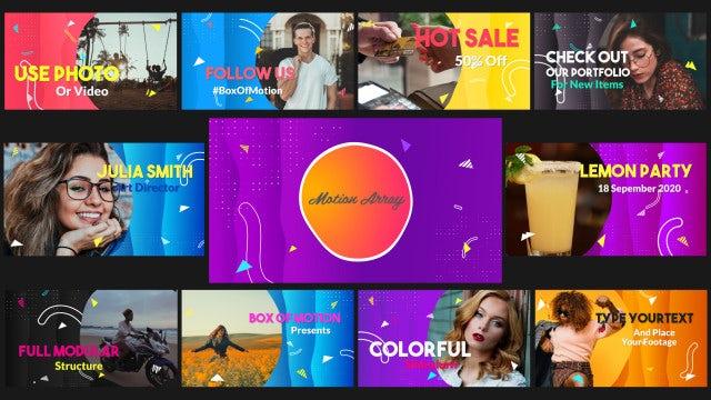 Photo of Colorful Slideshow – MotionArray 961394