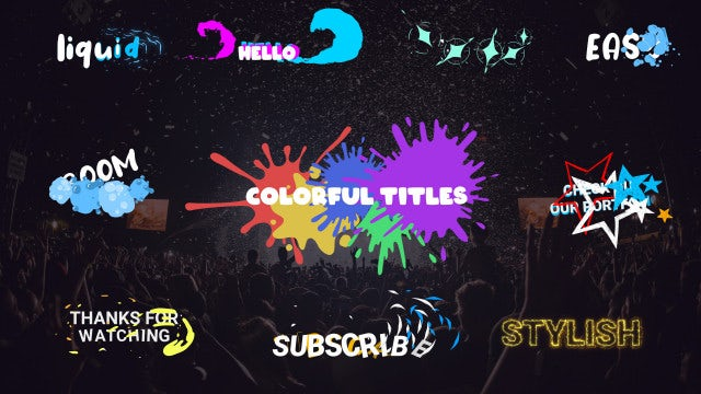 Photo of Colorful Titles – MotionArray 960635