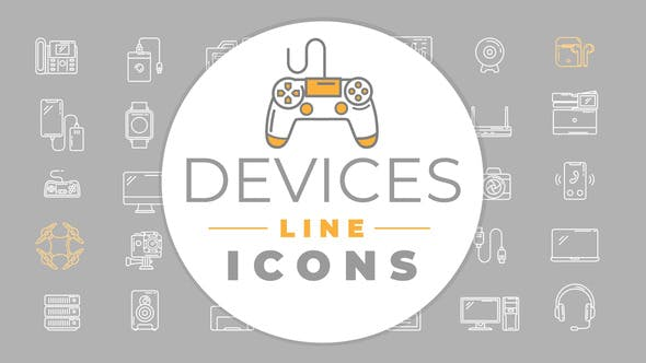 Photo of Electronic Devices Icons – Videohive 32078410